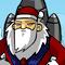 Rocket Santa Icon