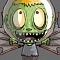 Zombie Head Moon Icon