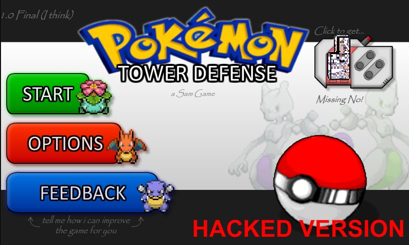Pokemon Tower Defense Hacked / Cheats  Hacked Online Games