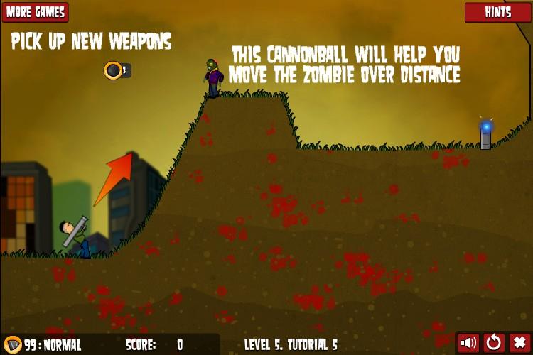 flaming zombooka 2 hacked cheats hacked online games