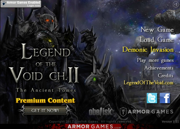 Legend of the Void 2 Hacked / Cheats - Hacked Online Games