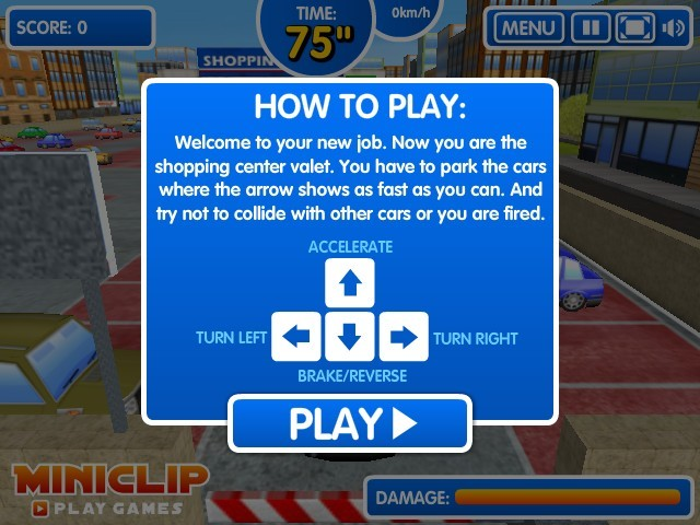 Shopping mall parking game online