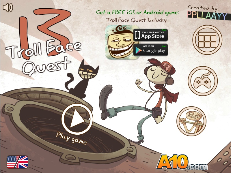 Trollface Quest 13 Hacked / Cheats - Hacked Online Games
