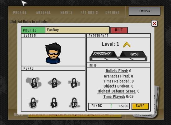 The Gun Game 2 Screens