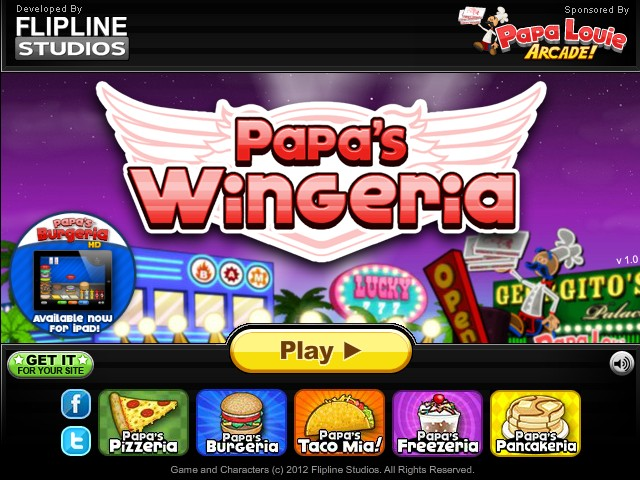 Papa s wingeria hacked cheats hacked online games