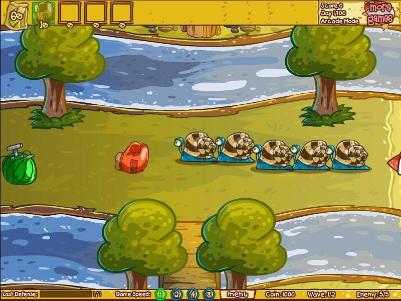fruit defense 3 hacked cheats hacked online games