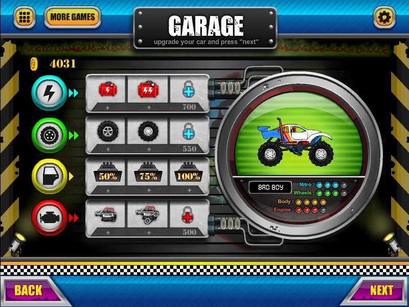 Monster Wheels Game