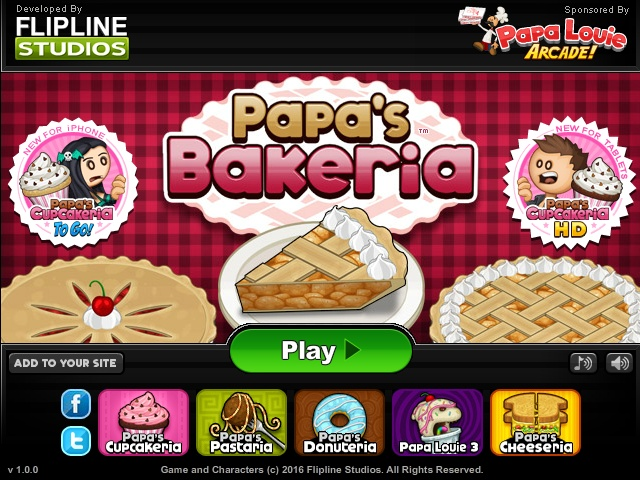 Papas Bakeria Hacked Cheats Hacked Online Games - Papa louie cuisine