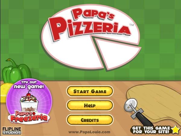 Papas Pizzeria Game