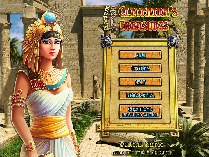 Cleopatras Treasure Game