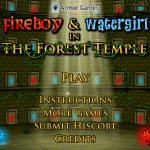 FireBoy and WaterGirl 1 - The Forest Temple Screenshot