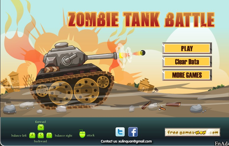 Zombie Tank Battle Hacked / Cheats  Hacked Online Games