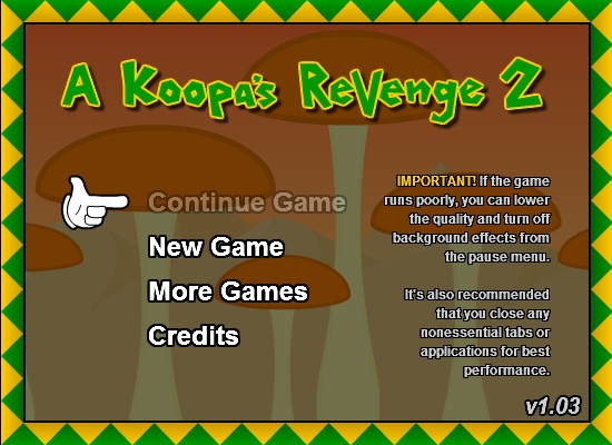 Koopa revenge hacked cheats hacked online games